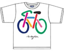 Bo Bendixen Kids T-Shirt weiß Fahrrad