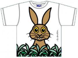 Bo Bendixen Kids T-Shirt weiß Kaninchen