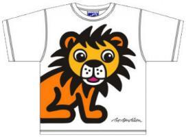 Bo Bendixen Kids T-Shirt weiß Löwe