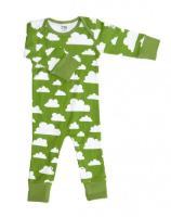 Färg Form Moln Babystrampler grün