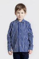Marimekko Piccolo Pikkupojanpaita Hemd blau weiß