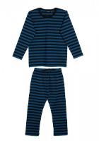 Marimekko Tasaraita Kids Untamo Schlafanzug schwarz melange