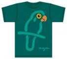 Bo Bendixen T-Shirt Papagei grün