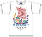 Bo Bendixen T-Shirt Wikingerschiff weiß