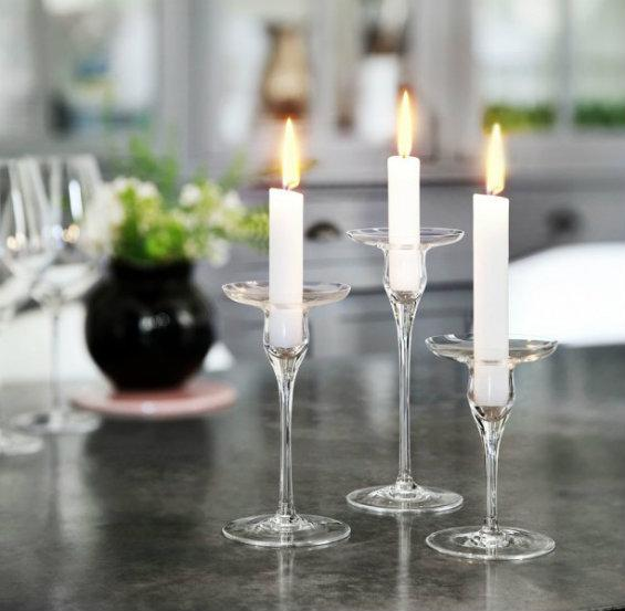 Holmegaard Cabernet Kerzenständer 3er Set