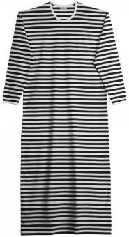 marimekko-tasaraita-pitkaemekko-nachthemd-schwarz-weiss