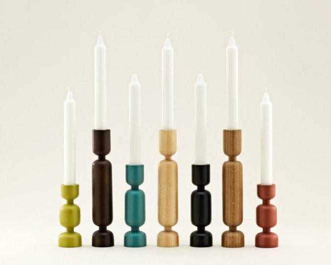 Normann Copenhagen Lumberjacks Kerzenständer Höhe 16 cm