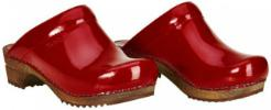 Sanita Clogs Holz Classic offen rot