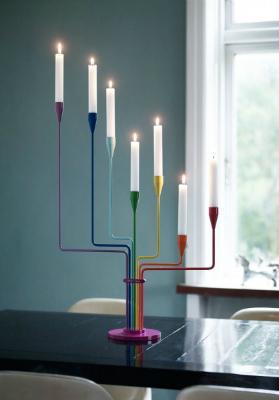 Piet Hein Kerzenständer Tisch farbig Großer Bär