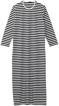 Marimekko Tasaraita Katju Nachthemd schwarz weiß
