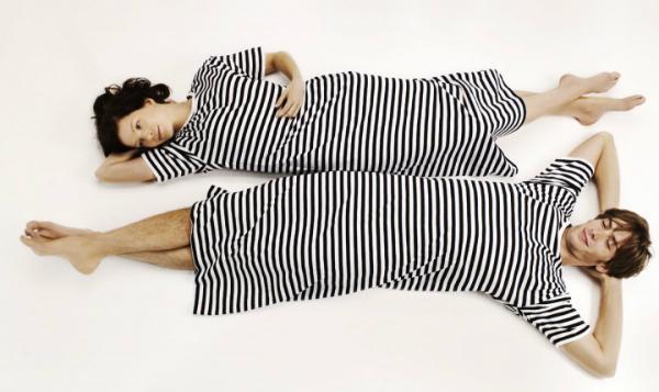 Marimekko Tasaraita Uni Nachthemd schwarz weiß
