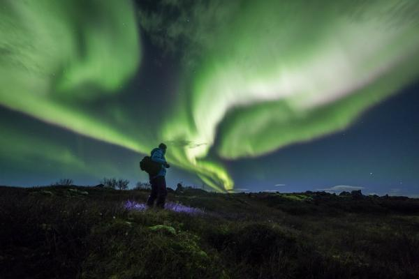 Aurora borealis Himmel