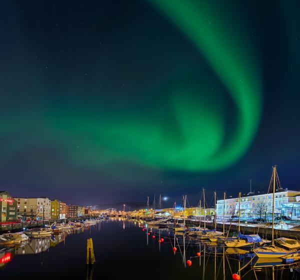 Aurora borealis Trondheim Norwegen
