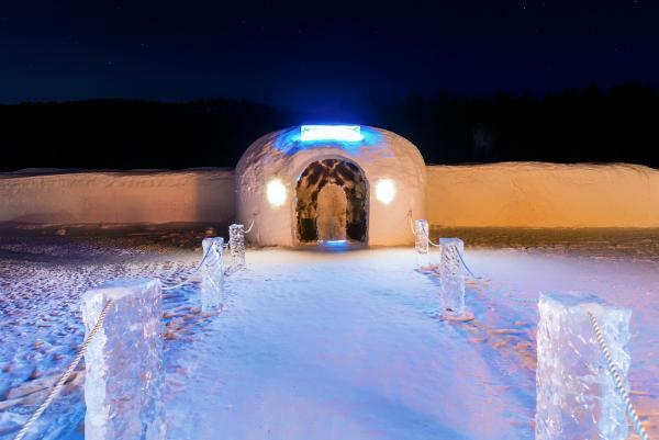 Eishotel Sorrisniva Norwegen
