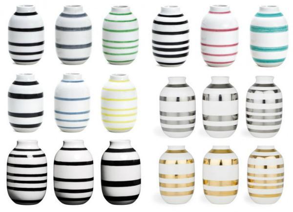 Kaehler Design Omaggio Vase Hoehe 8 cm 3 Stueck