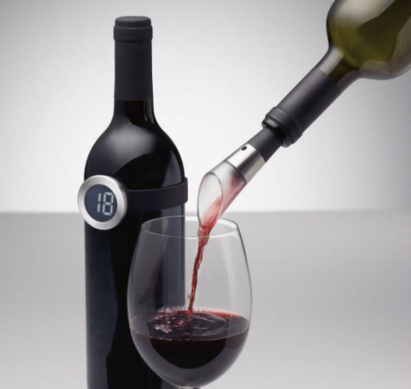 Menu Vignon Dekantierausgiesser und Weinthermometer 2-teilig