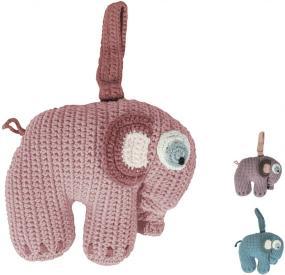 Sebra Spieluhr Elefant gehaekelt