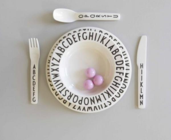 Design Letters AJ Melamin Kinderbesteck