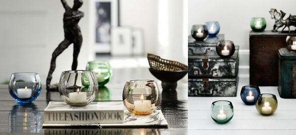Holmegaard Cocoon evergreen Leuchter