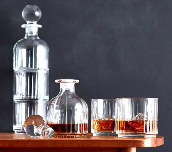 Lyngby Glas Combo Whiskyset Karaffe und Glas 2 Stueck