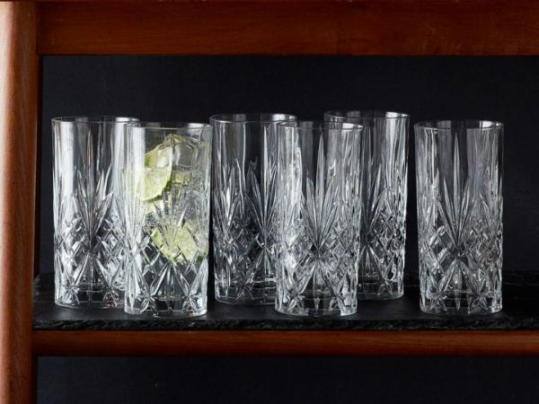Lyngby Glas Kristall Melodia Longdrink 36 cl 6 Stueck