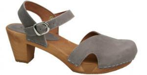 Sanita Sandale Holz Matrix Flex grau