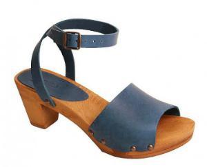 Sanita Sandale Holz Yara Square Flex blau