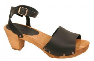Sanita Sandale Holz Yara Square Flex schwarz