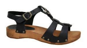Sanita Wood Olise Low Flex Sandale schwarz