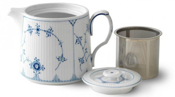 Royal Copenhagen Musselmalet Gerippt Teekanne 0,75 Liter