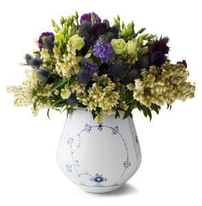 Royal Copenhagen Musselmalet Gerippt Vase Hoehe 20,5 cm