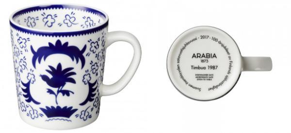 Arabia 100 Jahre Finnland She-Fo Becher 0,3 l