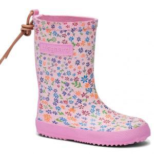 Bisgaard Gummistiefel mit Blumen rosa