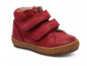 Bisgaard Sneaker mit Fell Klettverschluss rot