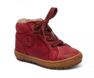 Bisgaard Sneaker mit Fell Schnuerbaender rot