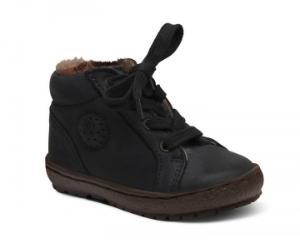 Bisgaard Sneaker mit Fell Schnuerbaender schwarz
