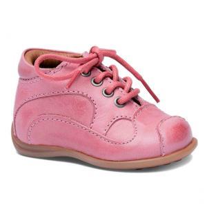 Bisgaard Lauflernschuh mit Schnuerbaendern rosa
