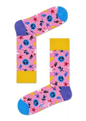 Happy Socks Peace And Love pink Struempfe