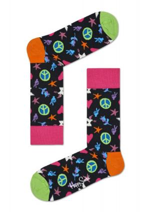 Happy Socks Peace And Love schwarz Struempfe