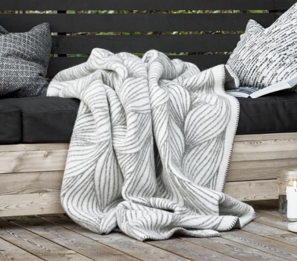 Roros Tweed Naturpledd Wolldecke 130x200 cm