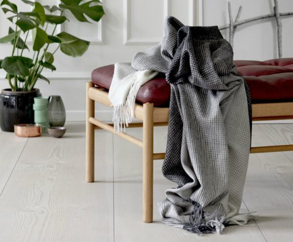 wohndecken baumwolle moon wolldecke wohndecke x stripes mit fransen blau with wohndecken. Black Bedroom Furniture Sets. Home Design Ideas