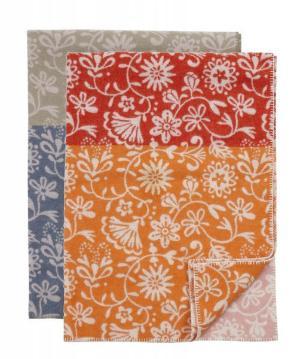 Klippan Premium Floral Wolldecke (Merino) 130x180 cm