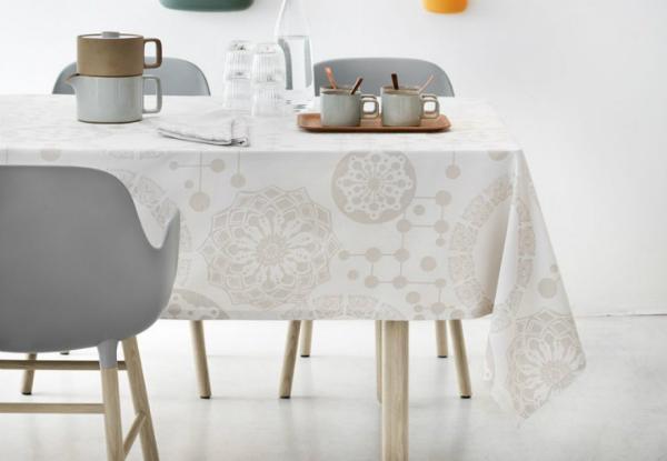 Tischdecke Circles von Bjorn Wiinblad creme