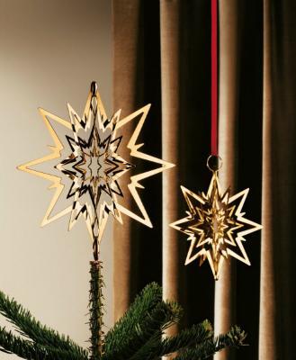 Georg Jensen Weihnachten gold Stern Durchmesser 180 mm