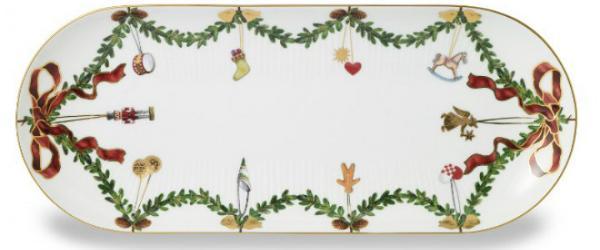 Royal Copenhagen Star Fluted Christmas Platte Laenge 39 cm