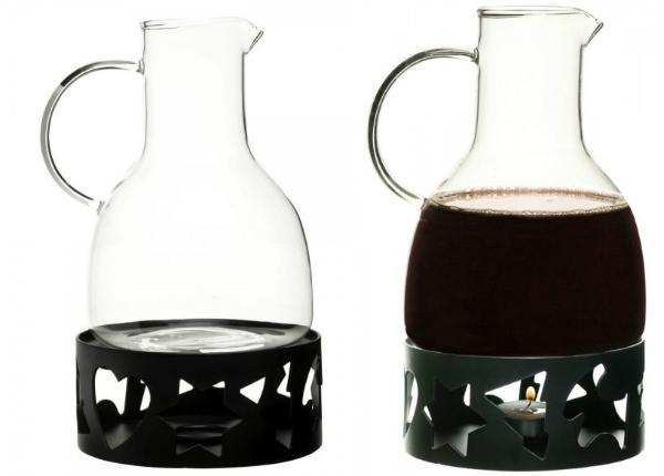 Sagaform Winter Gloeggkaraffe 1,3 Liter mit Stoevchen