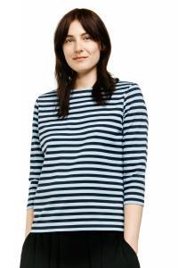 Marimekko Tasaraita Ilma T-Shirt dunkelblau hellblau limitiert