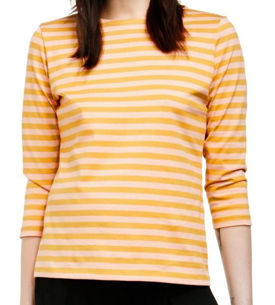 Marimekko Tasaraita Ilma T-Shirt dunkelgelb hellpink limitiert