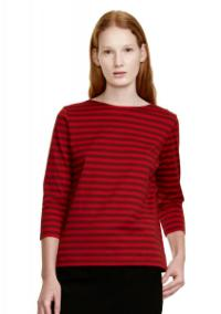 Marimekko Tasaraita Ilma T-Shirt dunkelrot rot limitiert