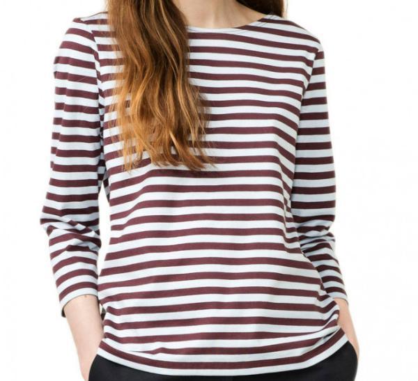Marimekko Tasaraita Ilma T-Shirt hellblau braun limitiert